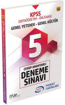 Murat Yayınları KPSS Ortaöğretim Önlisans Genel Yetenek Genel Kültür 5 Deneme Sınavı 1564