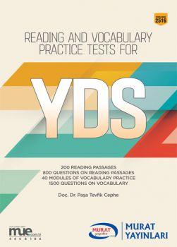 Murat Yayınları YDS Reading And Vocabulary Practice Tests for 2516