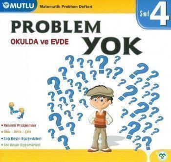 Mutlu Yayınları 4. Sınıf Matematik Okulda ve Evde Problem Yok Defteri