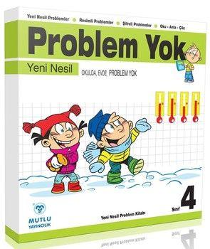 Mutlu Yayınları 4. Sınıf Problem Yok Okulda ve Evde Problem Yok Yeni Nesil Problem Kitabı