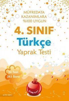 Nartest 4. Sınıf Türkçe Yaprak Test