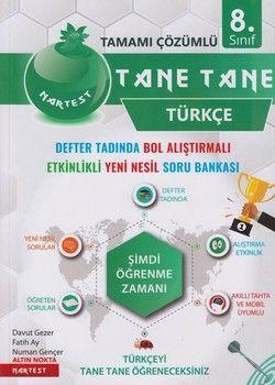 Nartest Yayınları 8. Sınıf Türkçe Tane Tane Soru Bankası