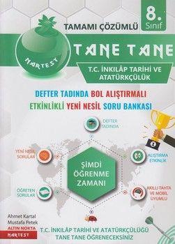 Nartest Yayınları 8. Sınıf T. C. İnkılap Tarihi ve Atatürkçülük Tane Tane Soru Bankası