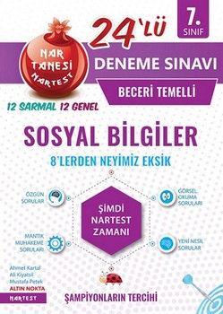 Nartest Yayınları 7. Sınıf Sosyal Bilgiler Nar Tanesi 24 lüDeneme Sınavı