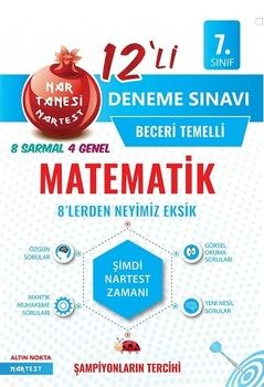 Nartest Yayınları 7. Sınıf Matematik Nar Tanesi 12 li Deneme Sınavı