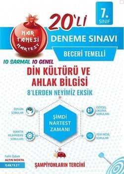 Nartest Yayınları 7. Sınıf Din Kültürü ve Ahlak Bilgisi Nar Tanesi 20 li Deneme Sınavı