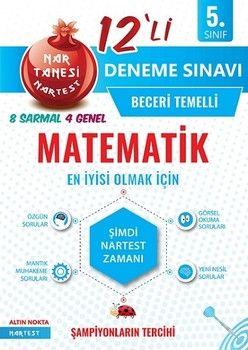 Nartest Yayınları 5. Sınıf Matematik Nar Tanesi 12 li Deneme Sınavı