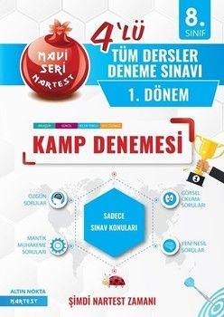 Nartest Yayınları 8. Sınıf 1. Dönem Tüm Dersler 4 lü Kamp Denemesi