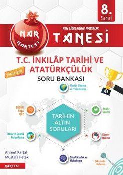 Nartest Yayınları 8. Sınıf Nar Tanesi T.C. İnkılap Tarihi ve Atatürkçülük Soru Bankası