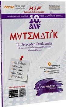 Navigasyon Yayınları10. Sınıf Matematik 2. Dereceden Denklemler Fasikülü