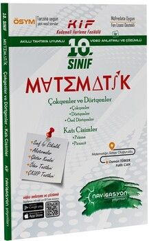 Navigasyon Yayınları10. Sınıf Matematik Çokgenler Dörtgenler ve Katı Cisimler Fasikülü