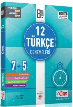 Nego Yayınları 8. Sınıf Türkçe 12 Denemeleri