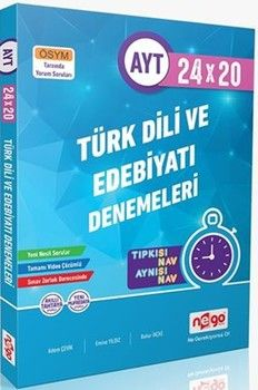 Nego Yayınları AYT Türk Dili ve Edebiyatı 24x20 Branş Denemeleri