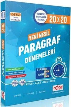 Nego Yayınları TYT AYT Paragraf 20x20 Branş Denemeleri