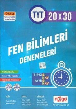 Nego Yayınları TYT Fen Bilimleri Video Çözümlü 20x30 Branş Denemeleri