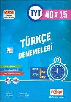 Nego Yayınları TYT Türkçe Tamamı Video Çözümlü 40x15 Branş Deneme
