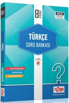 Nego Yayınları8. Sınıf Türkçe Soru Bankası