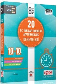 Nego Yayınları8. Sınıf T.C. İnkılap Tarihi ve Atatürkçülük 20 Deneme