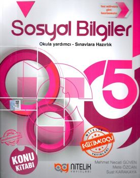 Nitelik Yayınları 5. Sınıf Sosyal Bilgiler Konu Kitabı