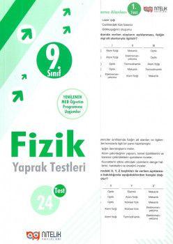 Nitelik Yayınları 9. Sınıf Fizik Yaprak Test