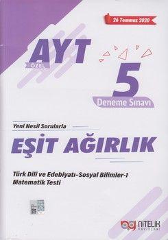Nitelik Yayınları AYT Eşit Ağırlık Özel 5 Deneme Sınavı
