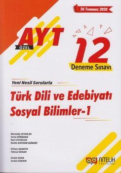 Nitelik Yayınları AYT Türk Dili ve Edebiyatı Sosyal Bilimler 1 12 Deneme Sınavı