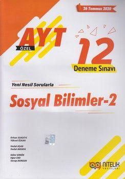 Nitelik Yayınları AYT Sosyal Bilimler 2 Özel 12 Deneme Sınavı