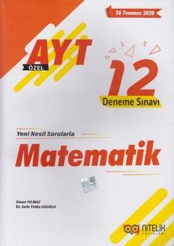 Nitelik Yayınları AYT Matematik Özel 12 Deneme Sınavı