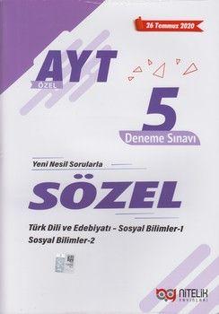 Nitelik Yayınları AYT Sözel Özel 5 Deneme Sınavı