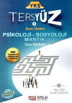 Nitelik Yayınları YKS Psikoloji Sosyoloji Mantık Tersyüz Konu Testleri Tekrar Testleri Soru Bankası