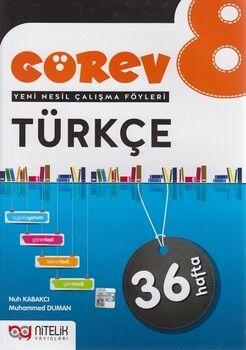 Nitelik Yayınları 8. Sınıf TürkçeGörev Yeni Nesil Çalışma Föyleri