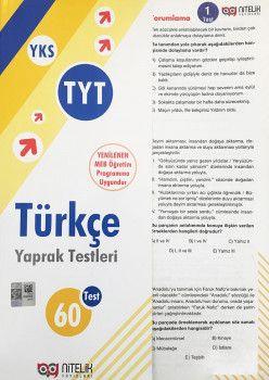Nitelik Yayınları YKS 1. Oturum TYT Türkçe Yaprak Test