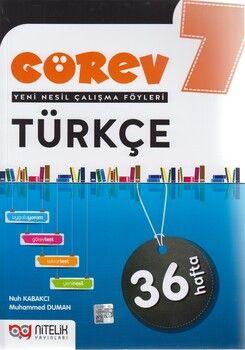 Nitelik Yayınları 7. Sınıf Türkçe Görev Yeni Nesil Çalışma Föyleri