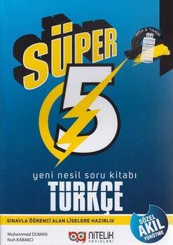 Nitelik Yayınları 5. Sınıf Türkçe Süper Yeni Nesil Soru Kitabı