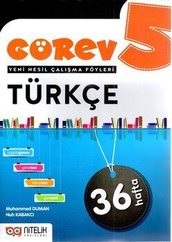 Nitelik Yayınları 5. Sınıf Türkçe Görev Yeni Nesil Çalışma Föyleri