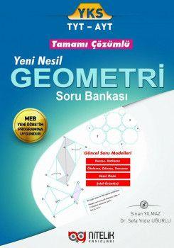 Nitelik Yayınları YKS 1. ve 2. Oturum TYT AYT Yeni Nesil Geometri Tamamı Çözümlü Soru Bankası