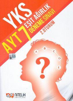 Nitelik Yayınları YKS 2. Oturum AYT Eşit Ağırlık 7 Deneme