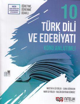Nitelik Yayınları 10. Sınıf Türk Dili ve Edebiyatı Konu Anlatımlı