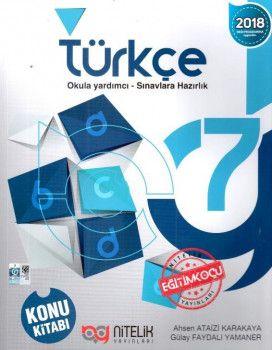 Nitelik Yayınları 7. Sınıf Türkçe Konu Kitabı