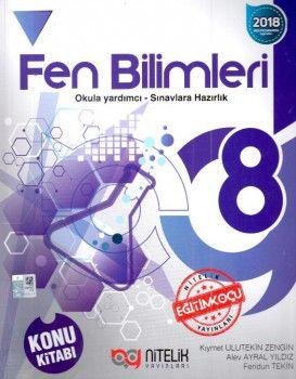 Nitelik Yayınları 8. Sınıf Fen Bilimleri Konu Kitabı