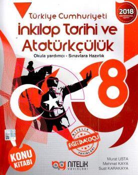 Nitelik Yayınları 8. Sınıf T.C. İnkılap Tarihi ve Atatürkçülük Konu Kitabı