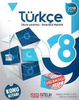 Nitelik Yayınları 8. Sınıf Türkçe Konu Kitabı