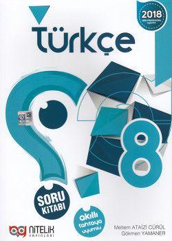 Nitelik Yayınları 8. Sınıf Türkçe Soru Kitabı