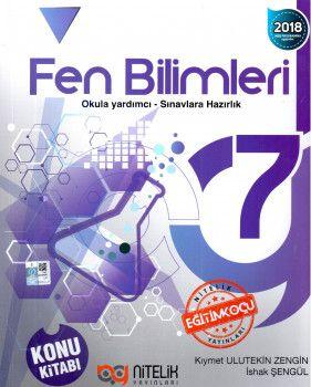 Nitelik Yayınları 7. Sınıf Fen Bilimleri Konu Kitabı
