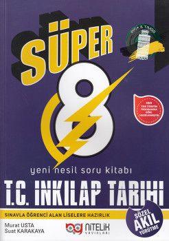 Nitelik Yayınları 8. Sınıf Süper T. C. İnkılap Tarihi ve Atatürkçülük Soru Kitabı