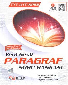 Nitelik Yayınları TYT AYT KPSS Paragraf Soru Bankası