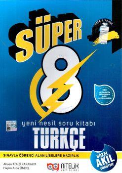 Nitelik Yayınları 8. Sınıf Süper Türkçe Yeni Nesil Soru Kitabı