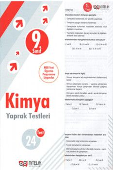 Nitelik Yayınları 9. Sınıf Kimya Yaprak Testleri