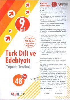 Nitelik Yayınları 9. Sınıf Türk Dili ve Edebiyatı Yaprak Testleri