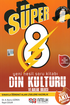 Nitelik Yayınları 8. Sınıf Süper Din Kültürü ve Ahlak Bilgisi Yeni Nesil Soru Kitabı